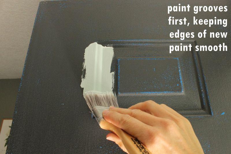 method to painting a door