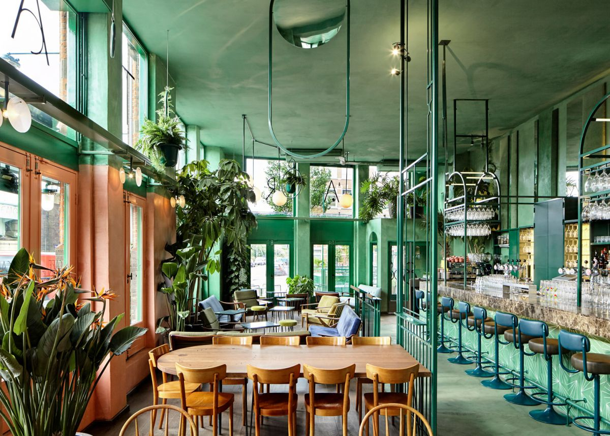 Bar Botanique Cafe Tropique Barn and Lounge Area