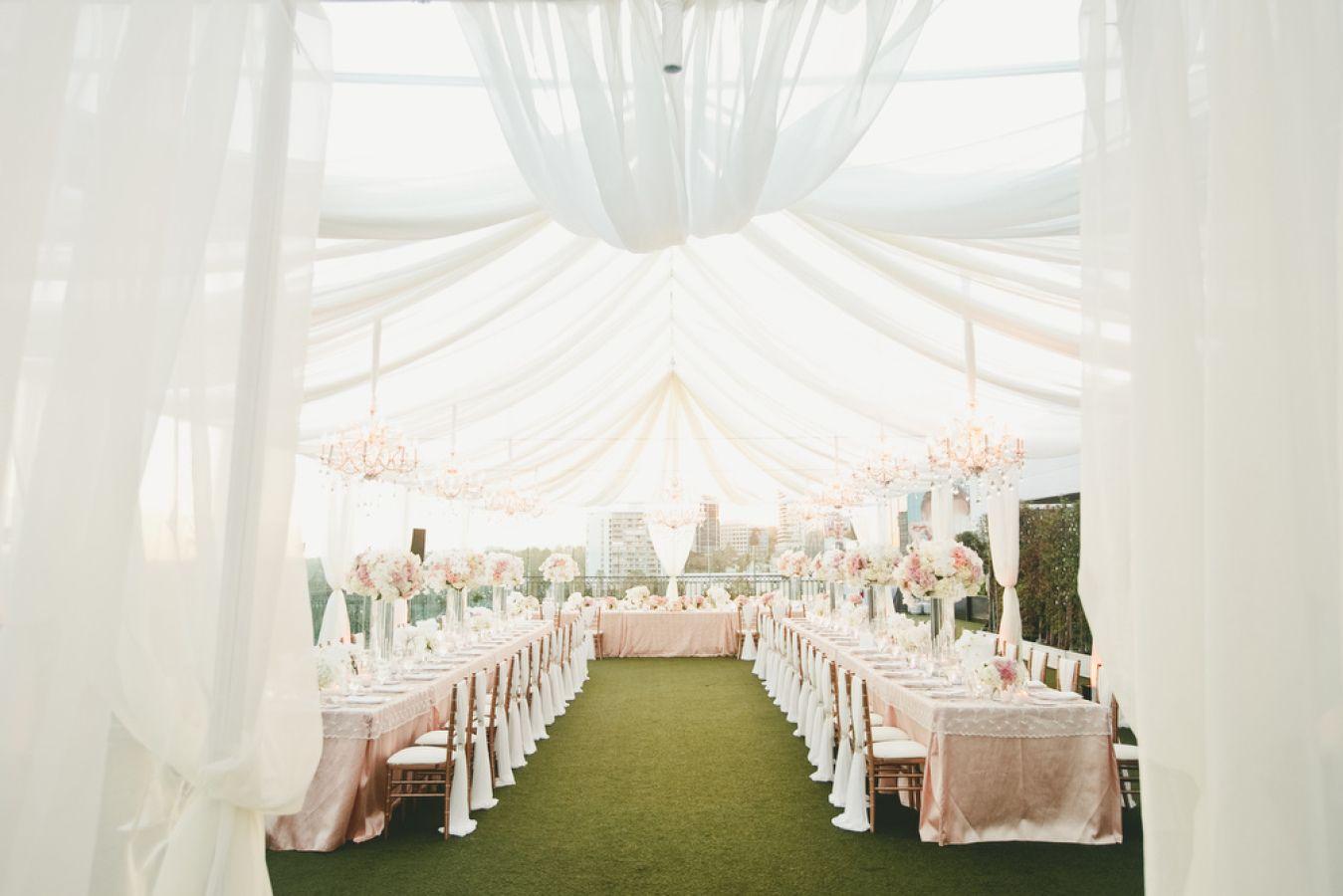 Beutiful California White Tent