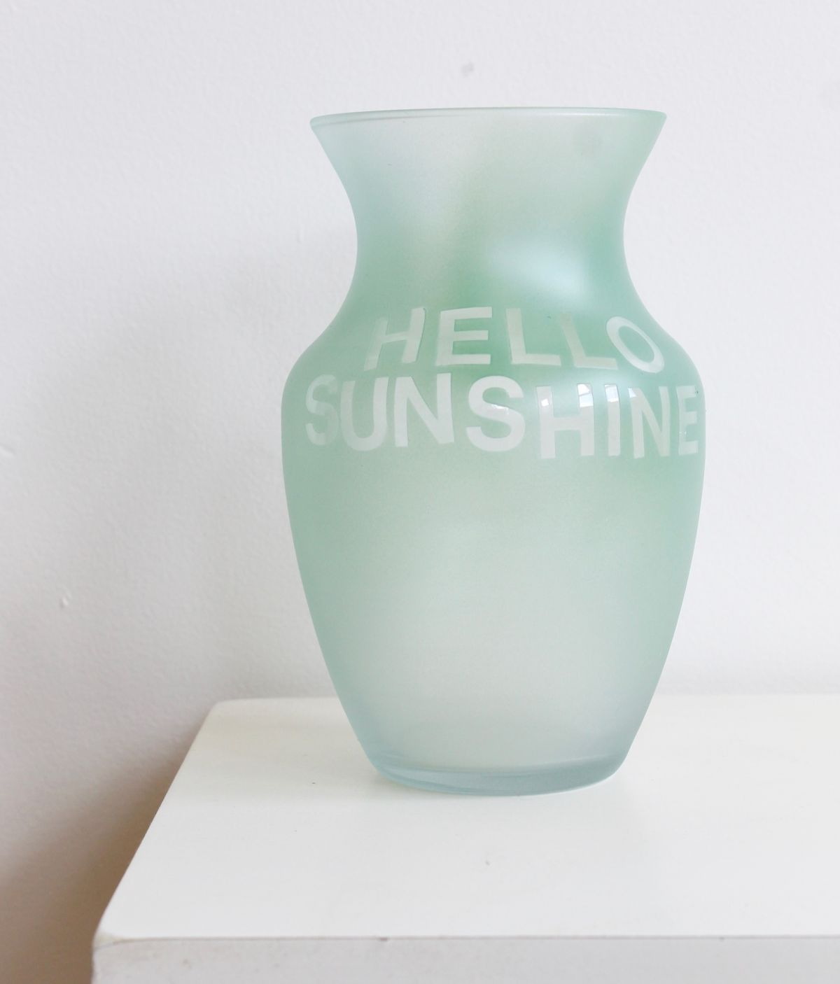 Colorful Etched Vases Hello Sunshine