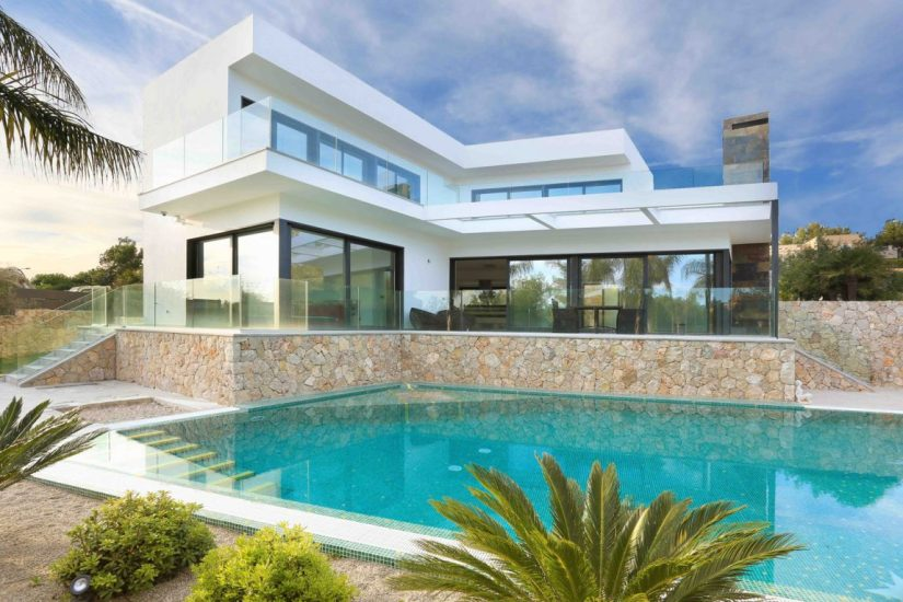 pool with pool house design