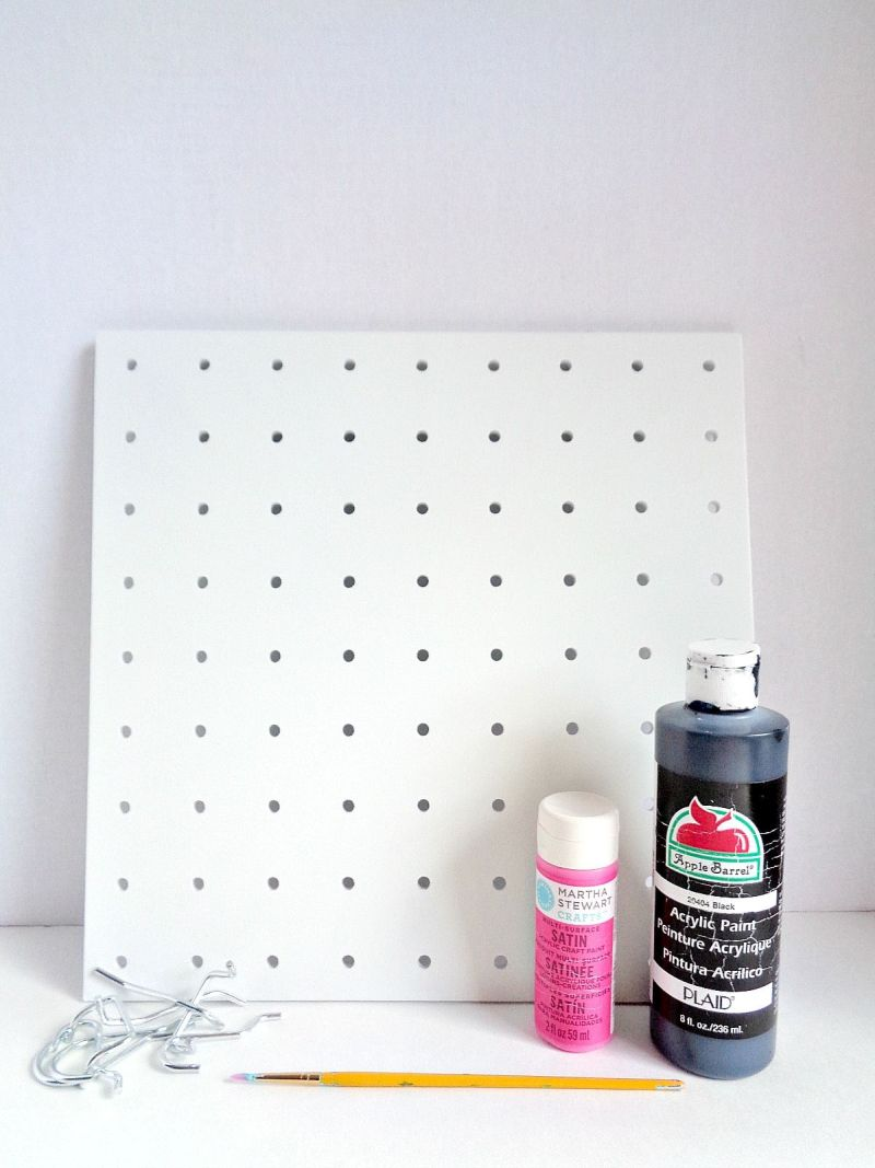 DIY Painted Patterned Pegboard Supplies