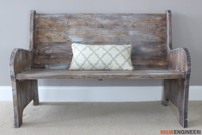 DIY church pew