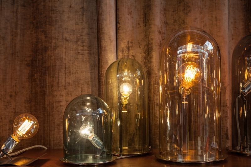EBB & FLOW collection of lighting fixtures with led edison bulbs