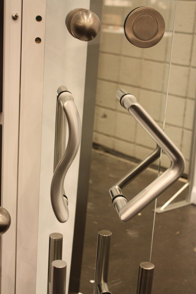 Modern flowing and angular shapes are perfect for interior doors and cupboards...and maybe the shower door?