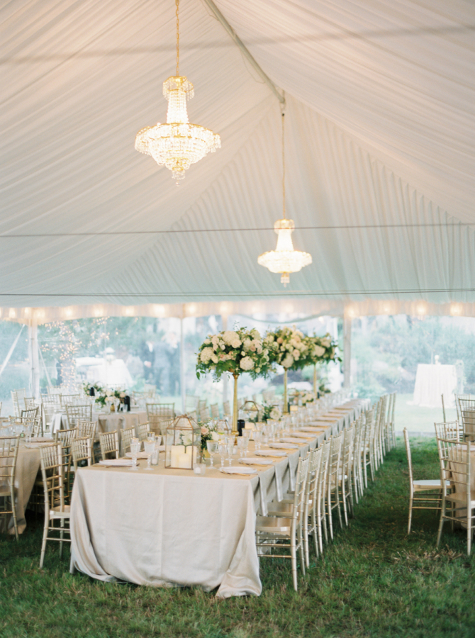 Montana wedding tent design