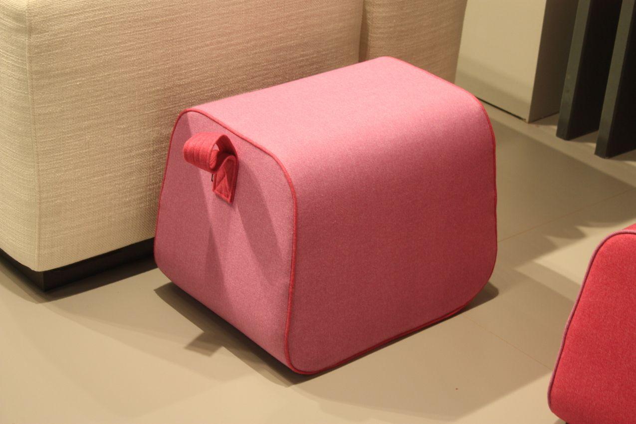 Pink Kids Pouf