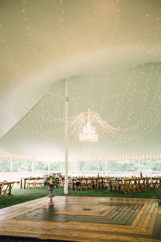 Rustic outdoor wedding tent