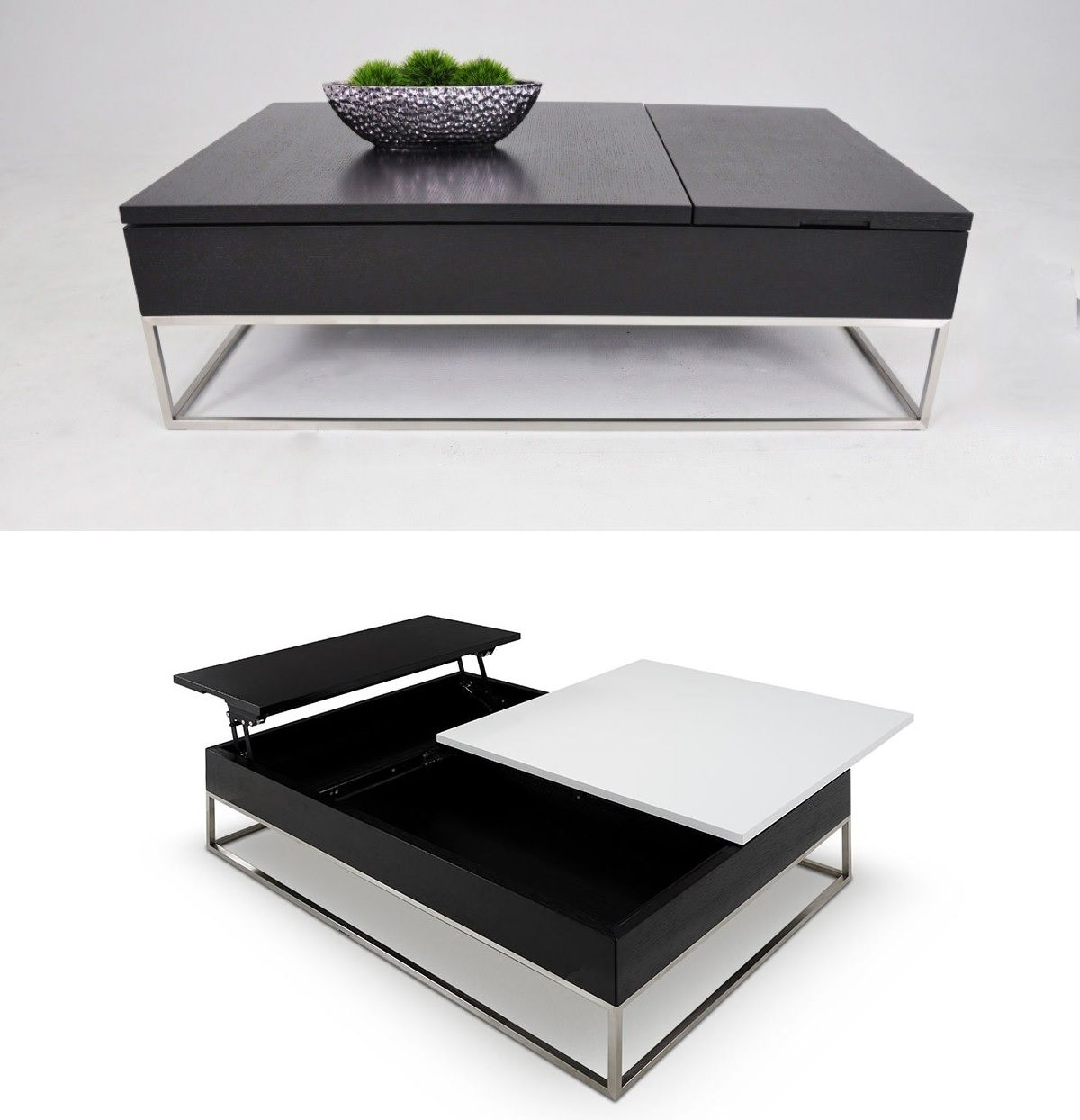 Storage table with an ingenious system