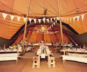 Tipi wedding tent party