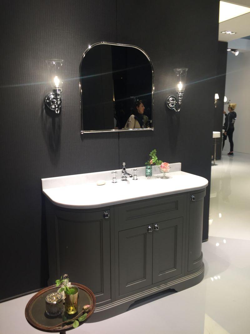 Traditional bathroom vanity in Gray