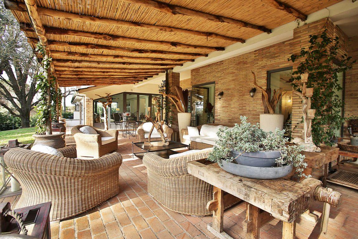 Villa outdoor space living design in Italy