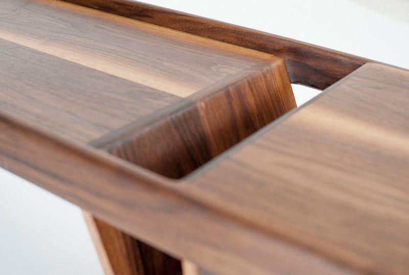 Walnut mag coffee table