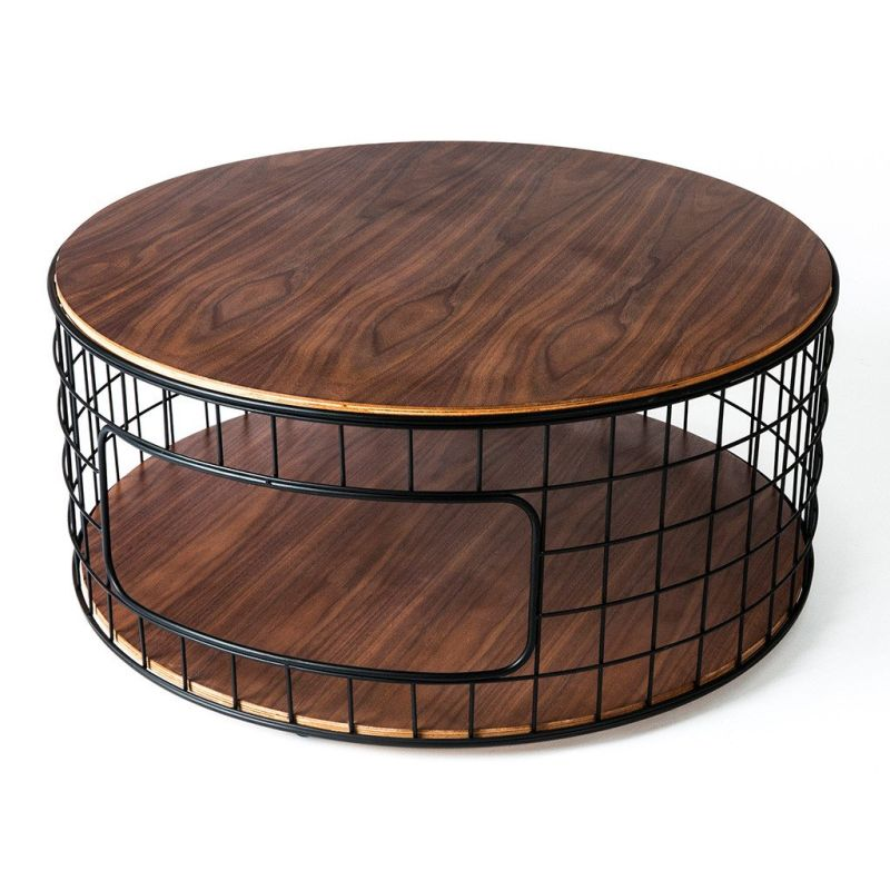 Wire frame base coffee table