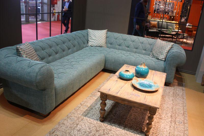 Aquamarine l shaped sofa