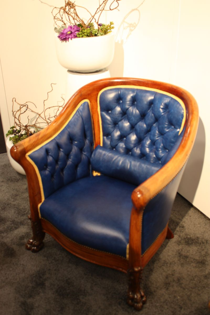 Blue Tufted Armchair