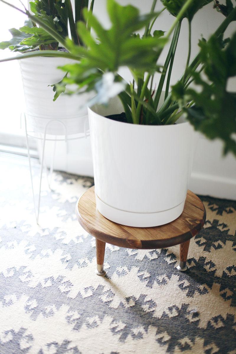 DIY midcentury plant stool