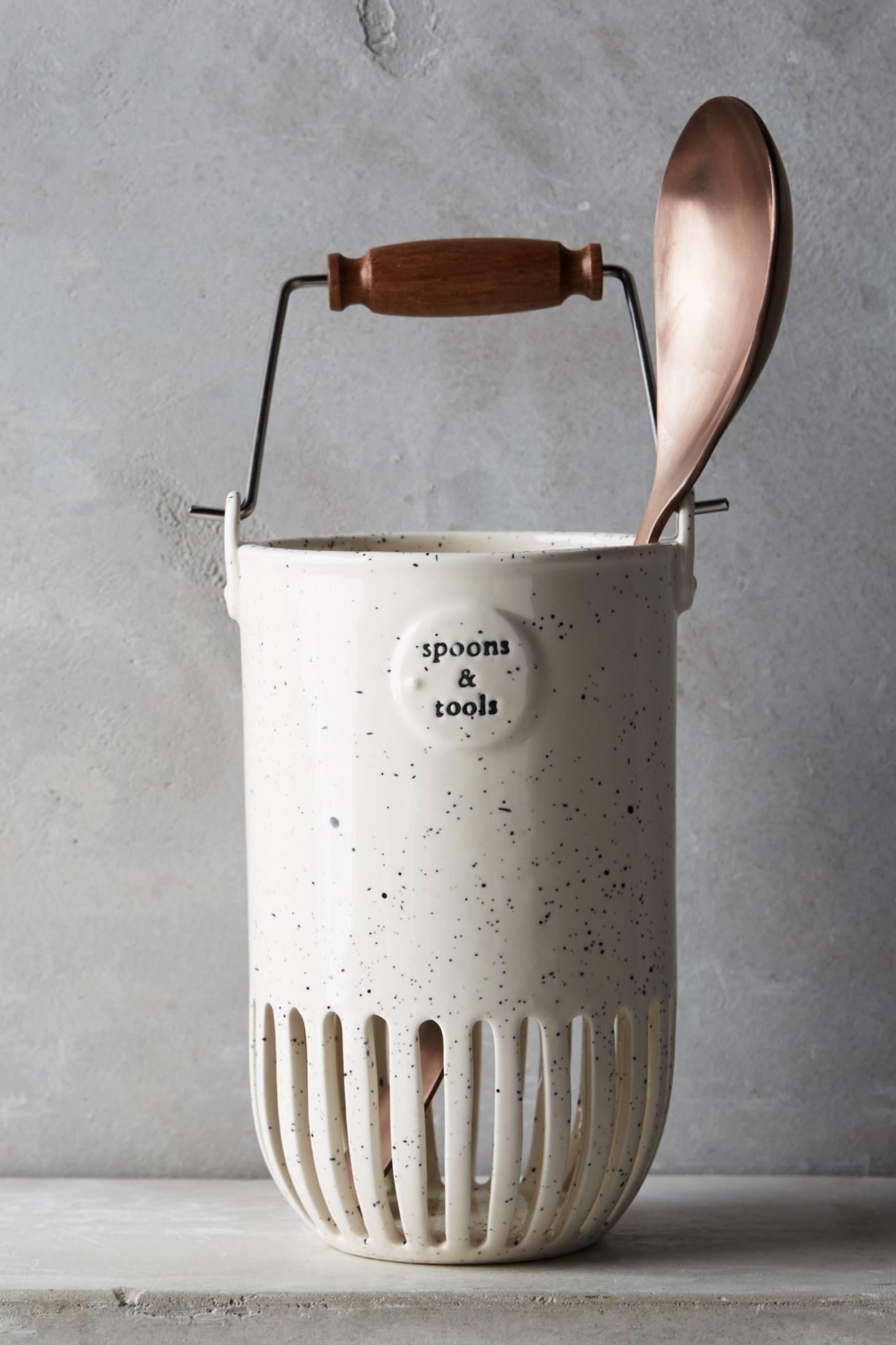 Kitchen utensil jar