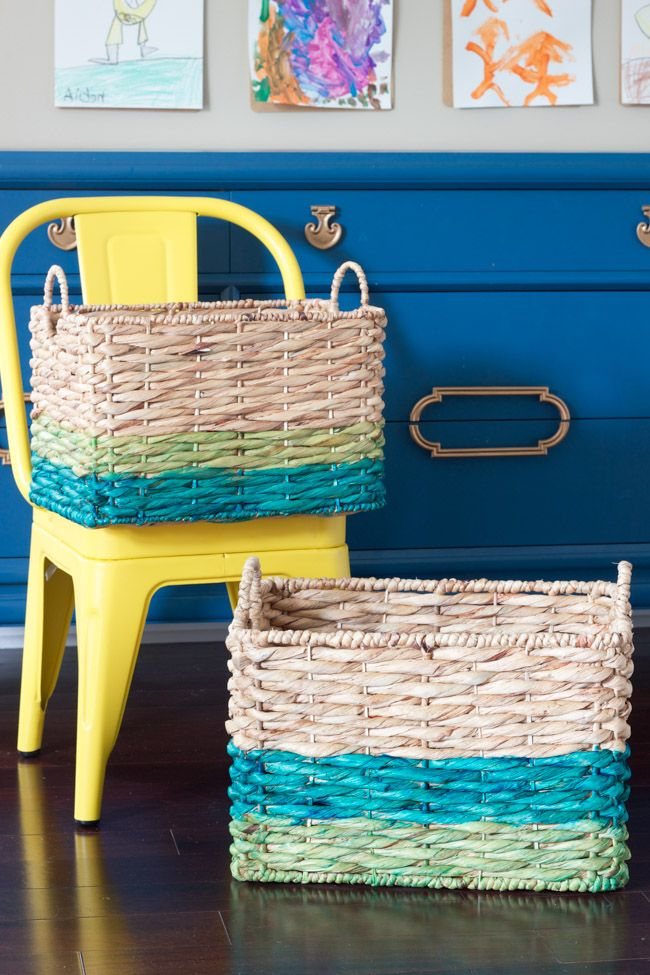 Ombre dyed basket