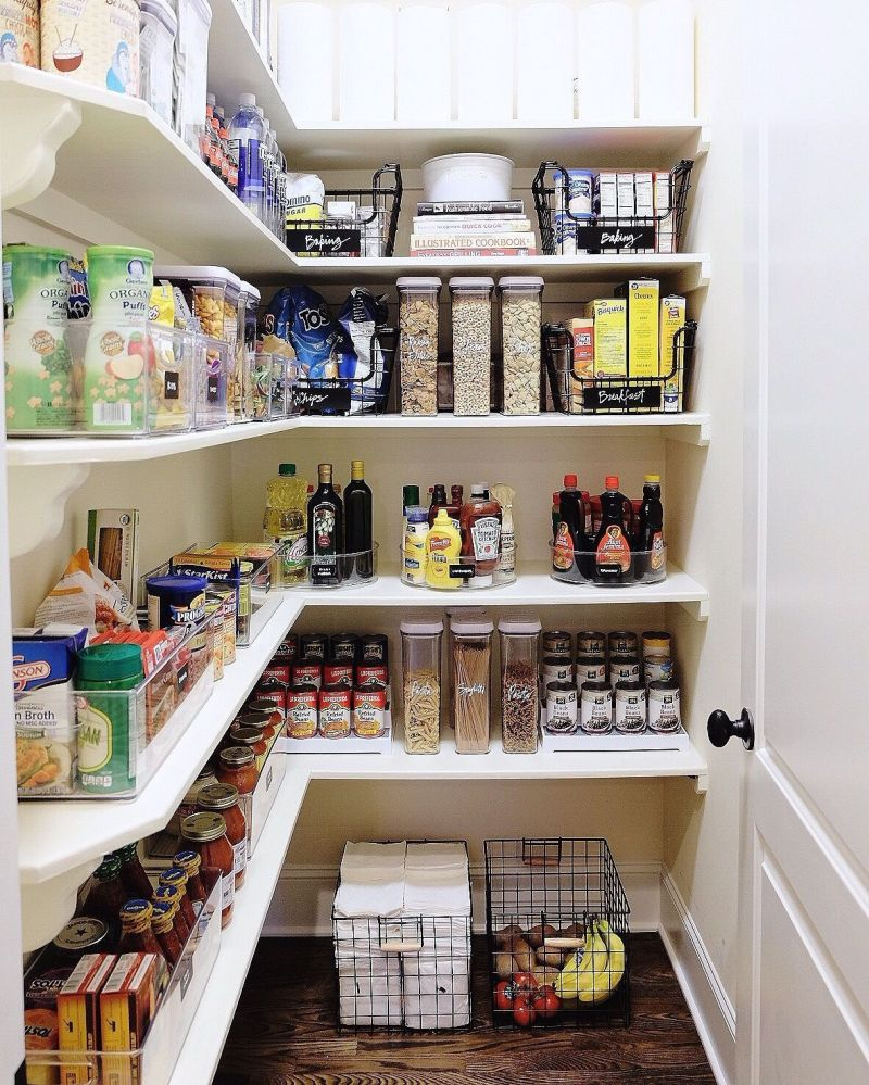 Pantry organization placement