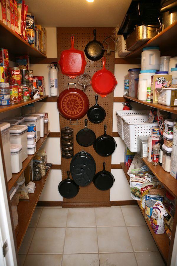 Pantry pegboard storage