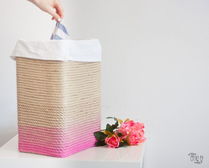 Rope ombre hamper