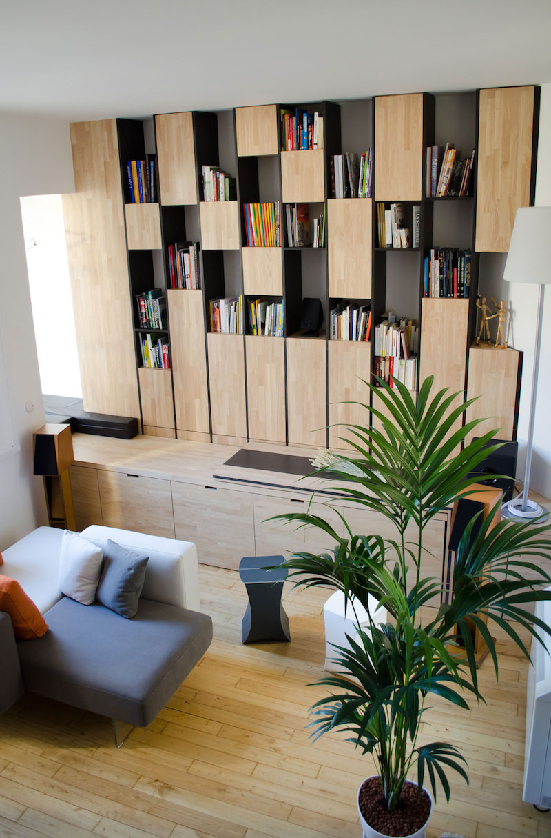 A big Little nest bookcase unit