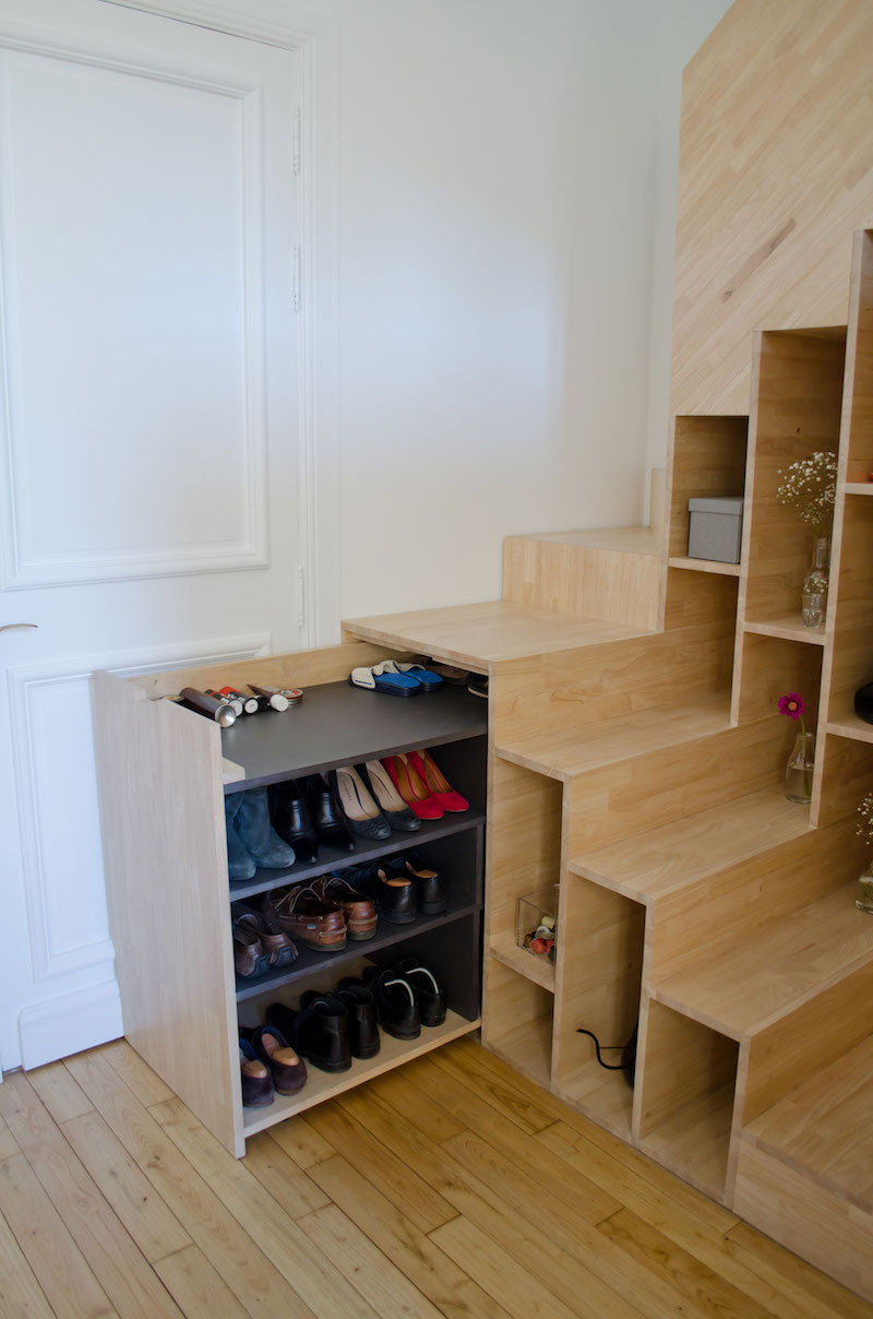 A big Little nest staircase shoe rack