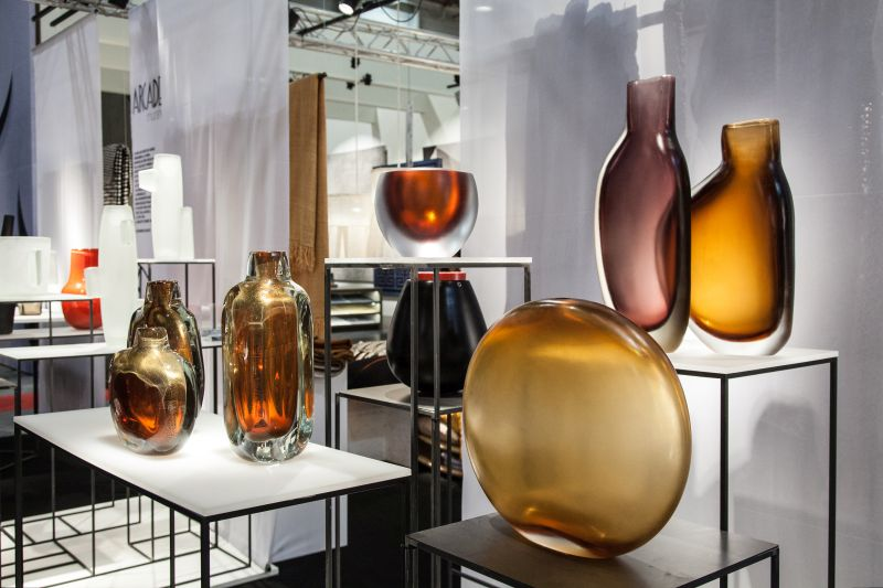 Arcade Paris Glass Flower Vases in many shapes