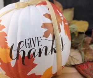 Autumn decoupage pumpkin