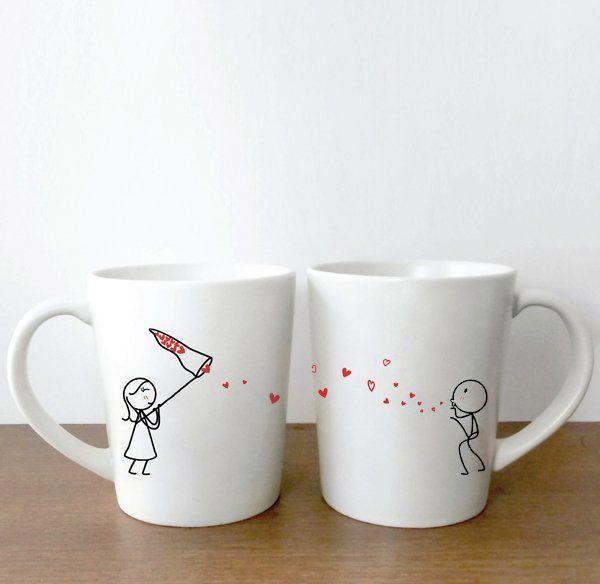 Catch my love couple mugs
