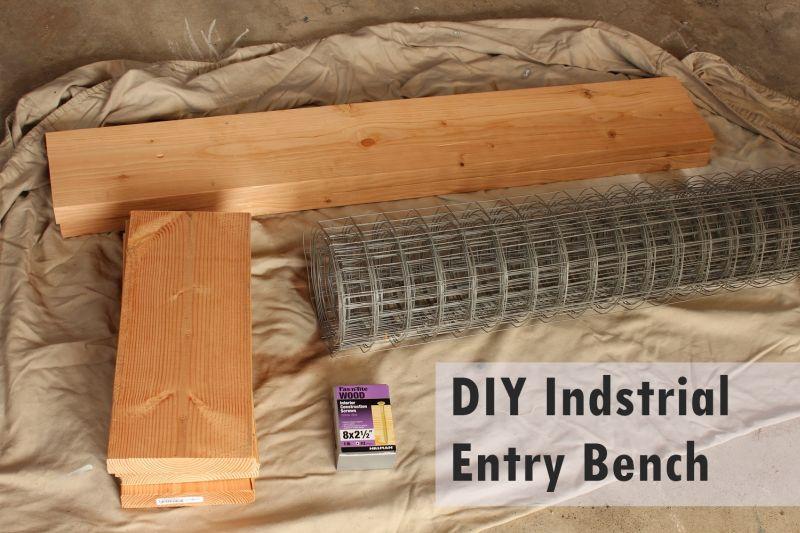 DIY Industrial Bench - Materials