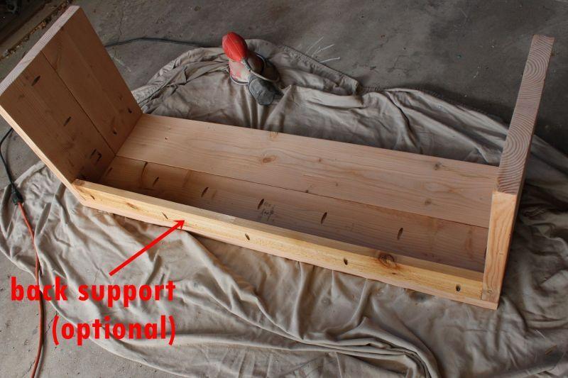 DIY Industrial Bench-back support