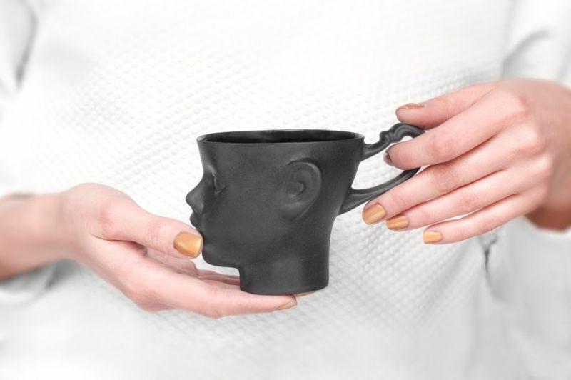 Doll head mug