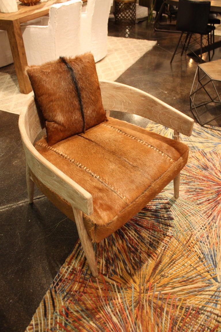 Dovetail hair hide curved chair