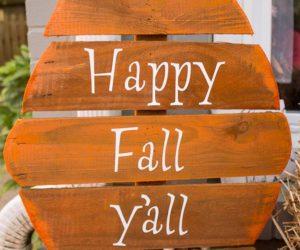 Fence board wood pumpkin