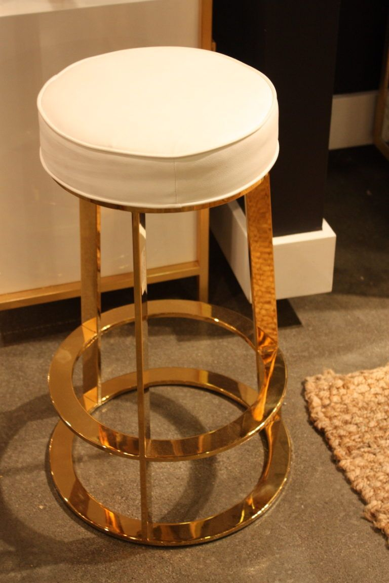 Gold touch stool from Worlds Away