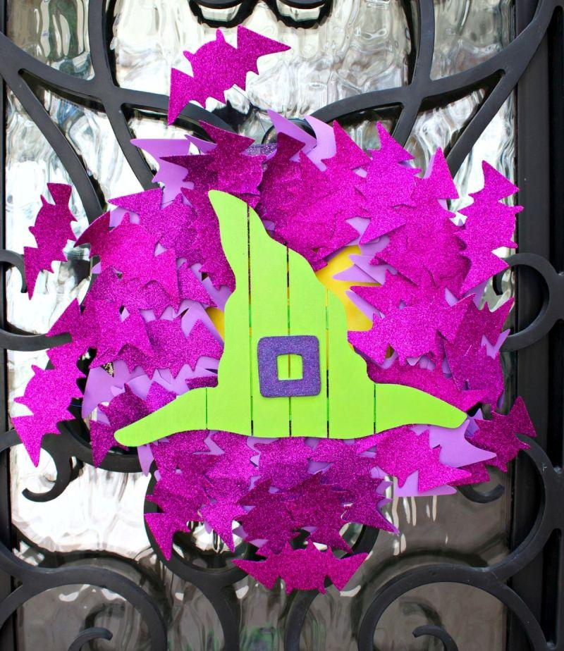 Halloween Front Door Bat Wreath DIY