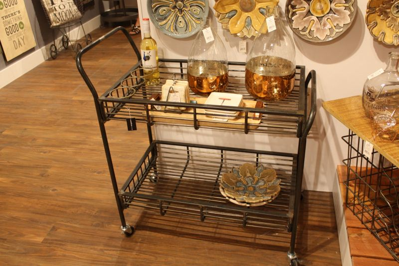 industrial-bar-cart-on-wheels-with-wire-shelves