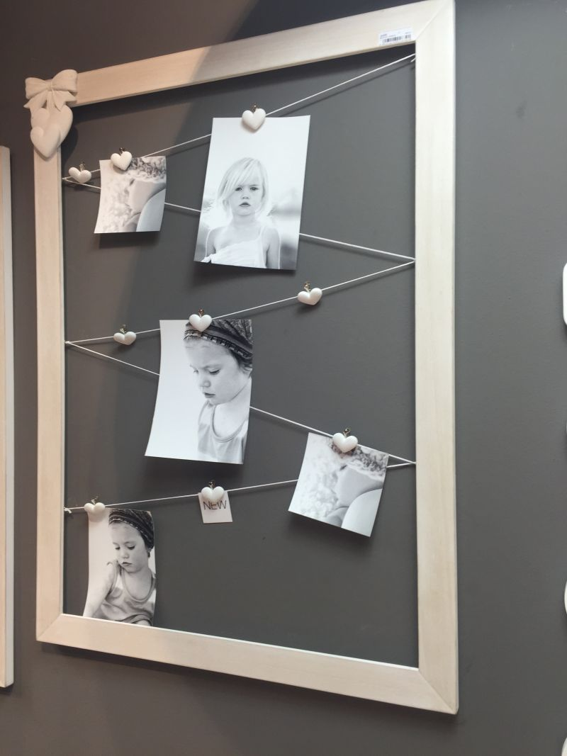 Large frame and rope to hang pictures