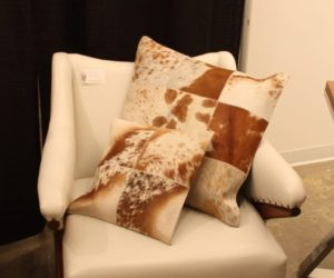 Light living hair hide pillows