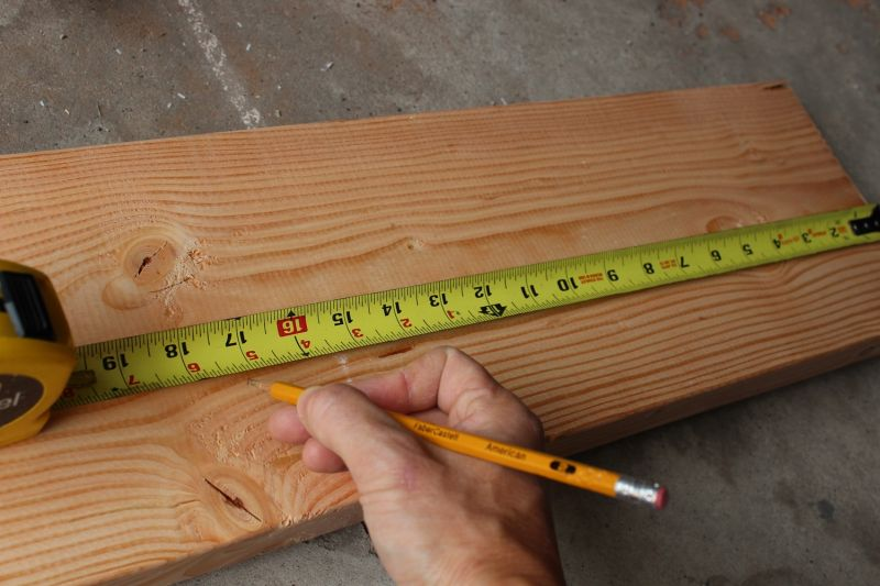 Measure the wood for bench