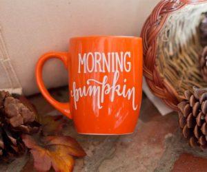 Morning orange pumpkin mug