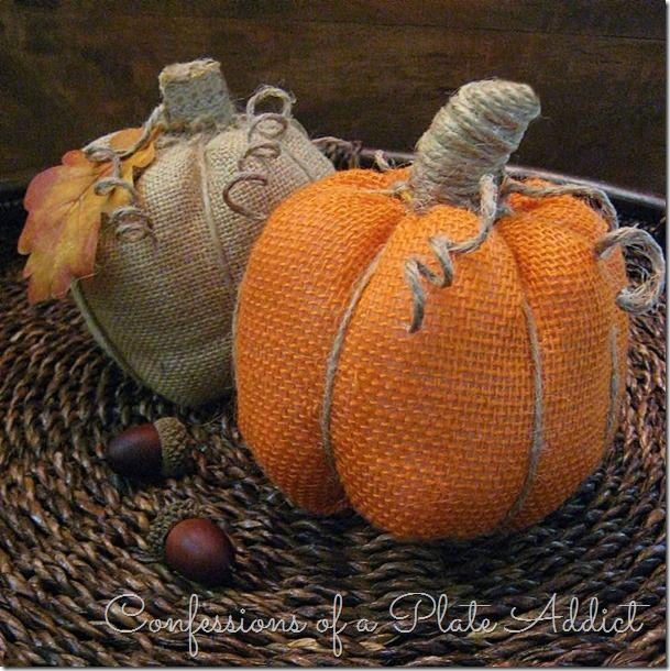 No sewing burlap pumpkins