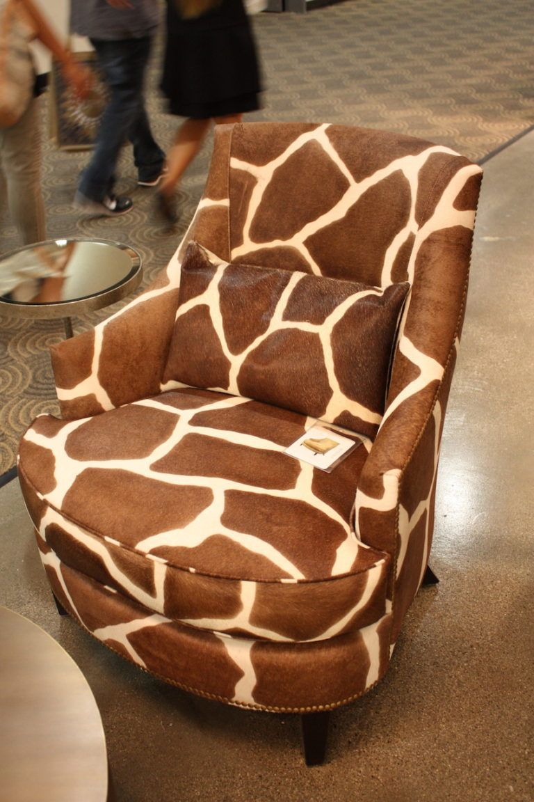 Oily studio hair hide wing chair