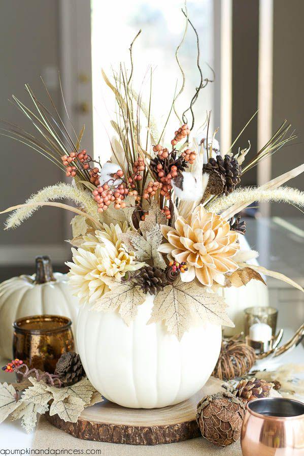 White pumpkin vase