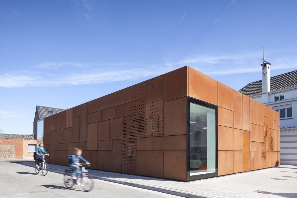 City Library Bruges with corten facade by Studio Farris Architects
