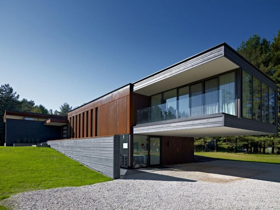 Corten facade on Private Residence