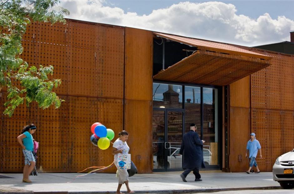 Corten steel Wyckoff Exchange by Andre Kikoski Architect Wall