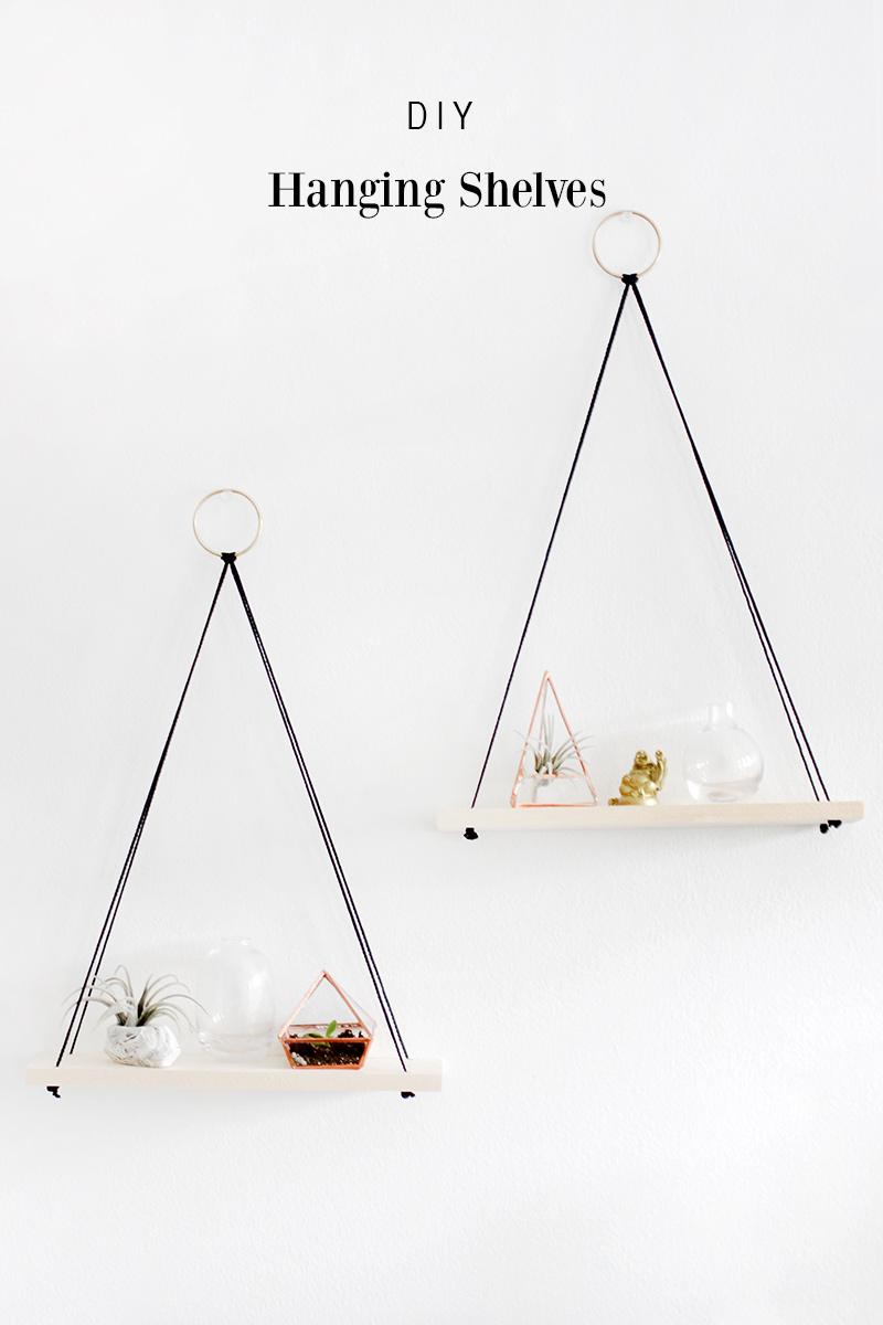 DIY Hanging Shelves Easy